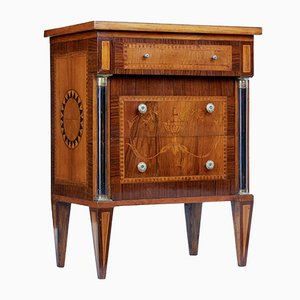 Antique Inlaid Walnut Small Commode, 1890s