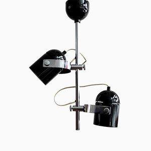 Lámpara de techo vintage negra de Stanislav Jindra para Combi Lux