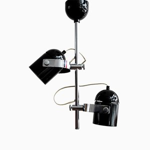 Vintage Black Ceiling Lamp by Stanislav Jindra for Combi Lux