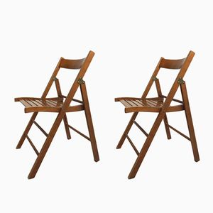 Mid-Century Folding Chairs, 1960s, Set of 2