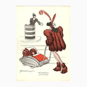 Vintage V-Pfrau Knüsli-Sioux Plakat von E. Shoenenberger