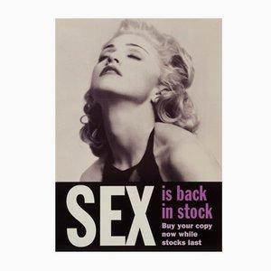Poster promozionale del libro Sex di Madonna, Regno Unito, 1992
