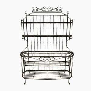 Vintage French Wrought Iron Baker's Shelving Unit, 1960s
