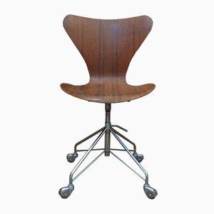 Chaise Série 7 Vintage par Arne Jacobsen pour Fritz Hansen, 1960s