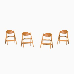 SE18 Folding Chairs by Egon Eiermann for Wilde+Spieth, 1950s, Set of 4