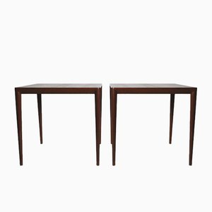 Mid-Century Side Tables by Severin Hansen for Haslev, Set of 2