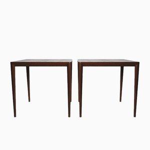 Tables d'Appoint Mid-Century par Severin Hansen pour Haslev, Set de 2