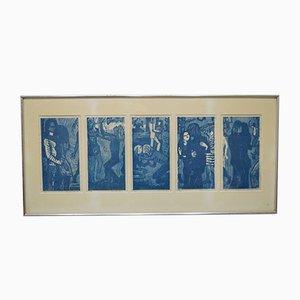 Pop Art Holzschnitte von Margereta Carlstedt, 1971