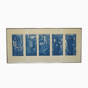 Pop Art Woodcuts by Margereta Carlstedt, 1971