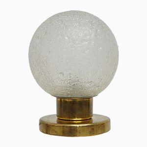 Space Age Tischlampe aus Glas & Messing von Doria Leuchten, 1960er