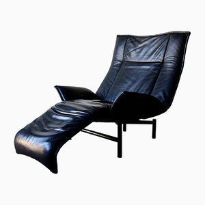 Vintage Leather Veranda Chair by Vico Magistretti for Cassina