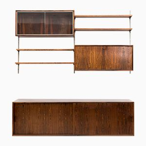 Dutch Rosewood Wall Unit, 1960s