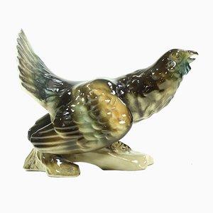 Tschechische Mid-Century Porzellanskulptur in Hahnen-Optik von Royal Dux