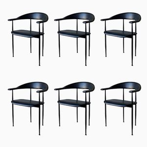 Vintage P40 Chairs by Giancarlo Vegni for Fasem, Set of 6