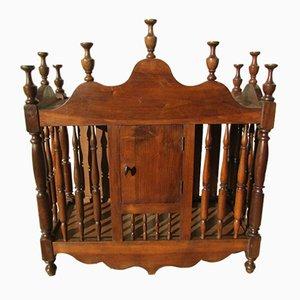 Antique Provencal Breadbox in Walnut