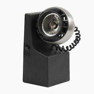 Schwarze Minispot Lampe von Dieter Witte für Osram, 1970er