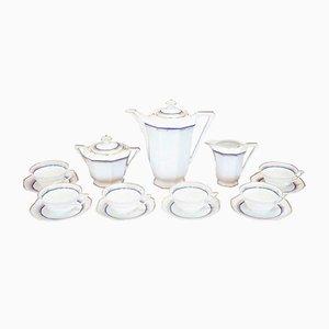 Set da tè o caffè vintage in porcellana di Limoges, anni '40