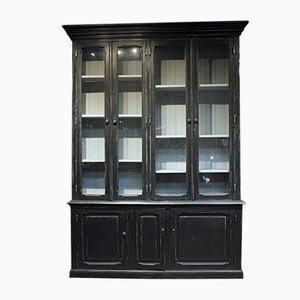 Vintage Black Patinated Showcase
