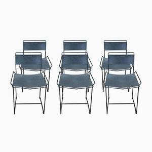 Vintage Perforated Metal Chairs, 1960s, Set of 6