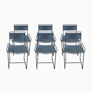 Vintage Stühle aus perforiertem Metall, 1960er, 6er Set