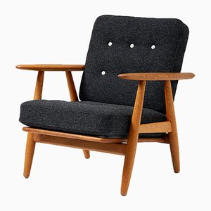 Vintage Oak GE-240 Cigar Chair by Hans J. Wegner for Getama