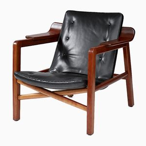 Vintage Cherry Lounge Chair by Edvard & Tove Kindt-Larsen for Gustav Bertelsen, 1930s
