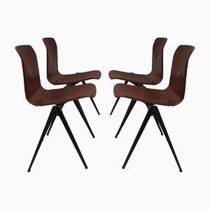 Industrielle Mid-Century S-22 Stühle von Galvanitas, 4er Set