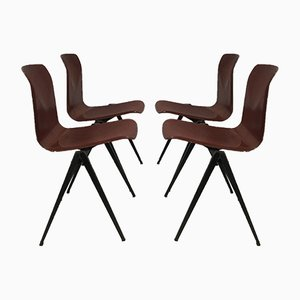 Mid-Century Industrial S-22 Chairs from Galvanitas, Set of 4