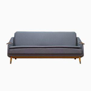 Skandinavisches Vintage Sofa mit Gestell aus Teak