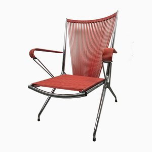 Vintage French Chromed Folding Chair