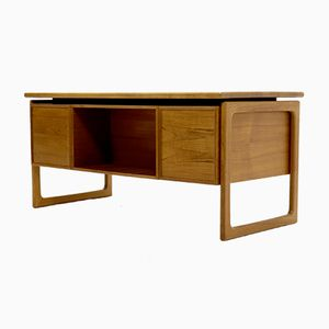 Mid-Century Teak Desk by G.V. Gasvig for GV Møbler, 1960s