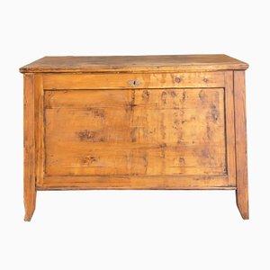 Arca alemana vintage de madera blanda