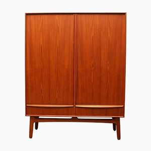 Danish Teak Highboard by Svend Aage Madsen for K. Knudsen & Son, 1950s