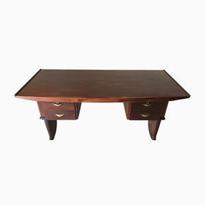 French Art Deco Rosewood Desk, 1940s