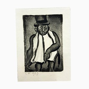 Acquaforte Ubu the King di Georges Rouault, 1929