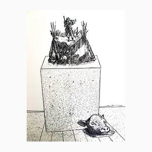 Lithographie Le Soldat par Max Ernst, 1972