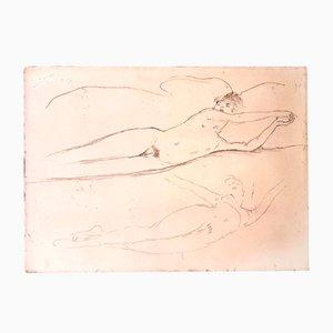 Dream Radierung von Jean Gabriel Domergue, 1924