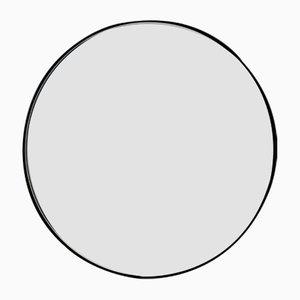 Specchio grande Orbis rotondo nero e argentato di Alguacil & Perkoff