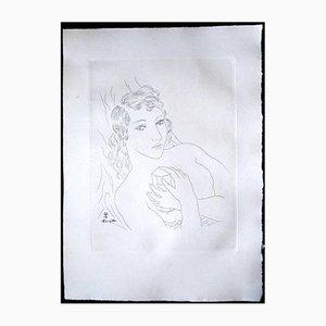 Acquaforte My Friend's Portrait di Léonard Foujita, 1928
