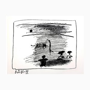Les Banderillas Lithografie von Pablo Picasso, 1961