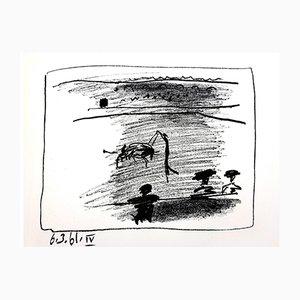 Litografía Les Banderillas de Pablo Picasso, 1961
