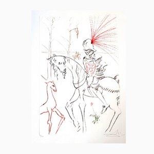 Incisione The Bloody Ford di Salvador Dali, 1975