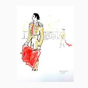Stiere Lithografie von Jean Cocteau, 1965