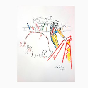 Torero Lithograph by Jean Cocteau, 1965
