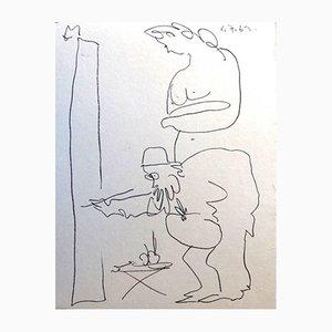 Litografia The Painter di Pablo Picasso, 1962