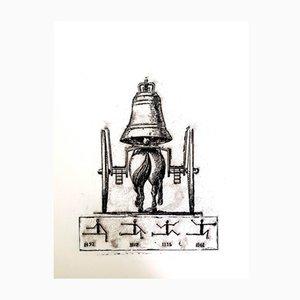 Der Soldat Lithografie von Max Ernst, 1972