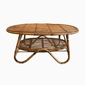 Table Basse en Rotin de Pierantonio Bonacina, 1950s