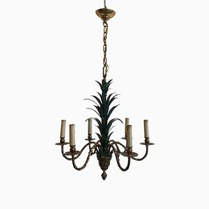 Regency Faux Bamboo Chandelier from Banci, 1960s