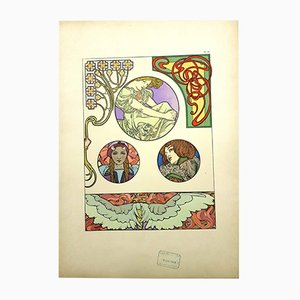 Litografía Decorative Documents de Alfons Mucha, 1902