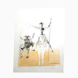 Don Quixote und Sancho Radierung von Salvador Dali, 1980